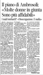 ambrosoli su Corsera 18 gen 2012