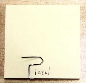 Graffetta post-it Pizzul