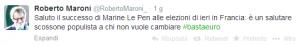 Maroni su Le Pen
